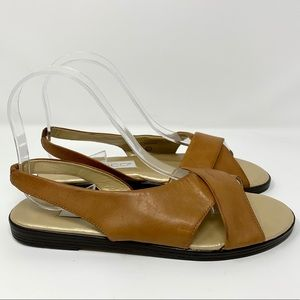VTG Calico slingback leather sandals C-Moped 7.5